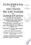 Suplemento, o sea Tomo tercero de los viajes de Enrique Wanton a el pais de las monas ...