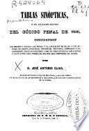 Tablas sinópticas o sea Aplicación práctica del Código penal de 1850