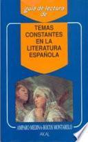 Temas constantes en la literatura española
