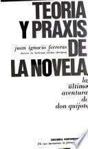 Teoría y praxis de la novela, la última aventura de Don Quijote.