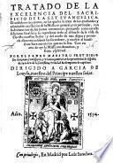 Tratado de la excelencia del sacrificio de la ley euangelica, etc