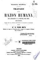 Tratado de la razón humana con aplicación á la práctica del foro
