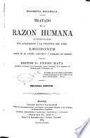 Tratado de la razon humana en estado de salud con aplicacion á la práctica del foro