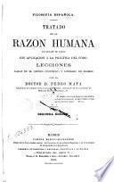 Tratado de la razón humana en estado de salud con aplicación a la práctica del foro