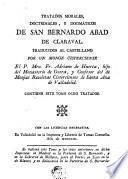 Tratados morales, doctrinales y dogmáticos de San Bernardo Abad de Claraval