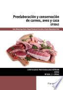 UF0065 - Preelaboración y conservación de carnes, aves y caza