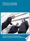 UF1782 - Políticas de marketing internacional