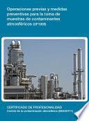 UF1908 - Operaciones previas y medidas preventivas para la toma de muestras de contaminantes atmosféricos