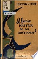 Unidad política de los cristianos?