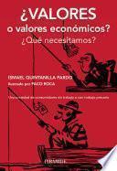 ¿Valores o valores económicos?