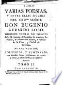 Varias poesias y entre ellas muchas del... senor... Eugenio Gerardo Lobo...