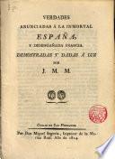 Verdades anunciadas a la inmortal España y desengañada Francia