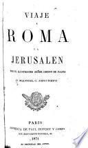 Viaje a Roma y a Jerusalem