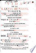 Vida de la B. Lucia de Narni ... escrita en Italiano por ... D. Ponsi ... y traducida en lengua castellana por D. P. Albert ... Van añadidos en esta traduccion algunos capitulos, que se expressan en el indice