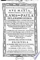 Vida de la venerable ... Madre Paula de la Madre de Dios ...