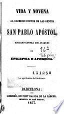 Vida y novena al glorioso doctor de las gentes San Pablo Apóstol