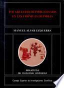 Vocabulario de indigenismos en las Crónicas de Indias