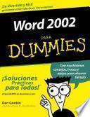 Word 2002 Para Dummies